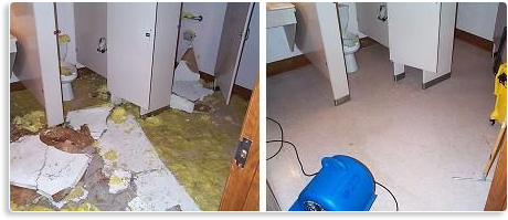 water damage restoration results
